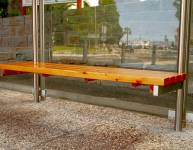 Wooden Bench for Bus Shelter