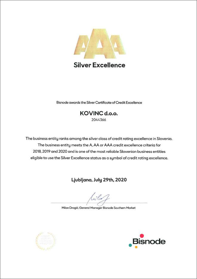 Kovinc - AAA Silver Excellence